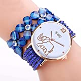 CCQ Beautiful Fashion Bracelet Watch Ladies Watch Round bracelet watch (Blue)
