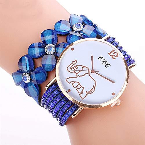 CCQ Beautiful Fashion Bracelet Watch Ladies Watch Round bracelet watch (Blue) by Sudiy (Image #1)