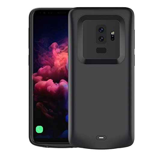 LAND-FOX Samsung Galaxy S9 Plus Funda Cargador 5200 mAh Slim ...