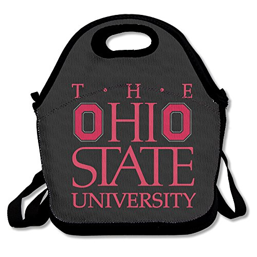 Ohio State University Lunch Bag Lunch Boxes, Waterproof Outdoor Travel Picnic Lunch Box Bag Tote With Zipper And Adjustable Crossbody Strap