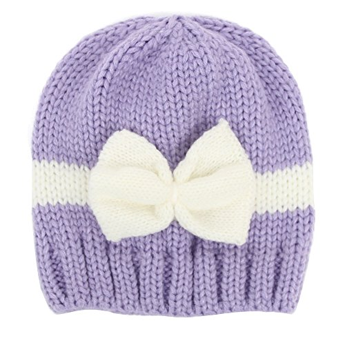 century-star-cute-bowknot-hat-warm-baby-girls-skull-cap-toddler-knited-beanie-purple-white