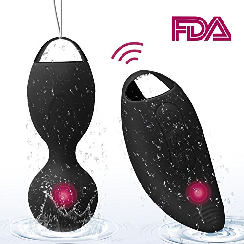 Kegel Exercise Weights -Ben Wa Ball Sets Kegel Balls for Beginners & Pleasure- Doctor Recommended for Women & Girls Bladder Control & Pelvic Floor Exercises (Black) by Landtaix