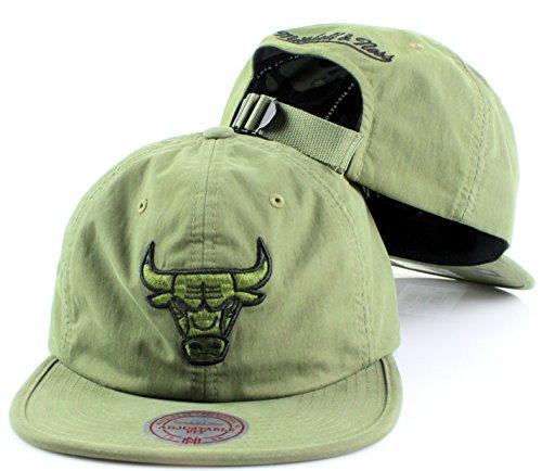 NBA Mitchell & Ness Outdoor Low Pro Strapback Cap (Adjustable, Chicago Bulls) (Ladies White Replica Baseball Jersey)