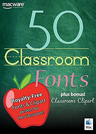 Amazon com: 50 Classroom Fonts for Mac [Download]: Software