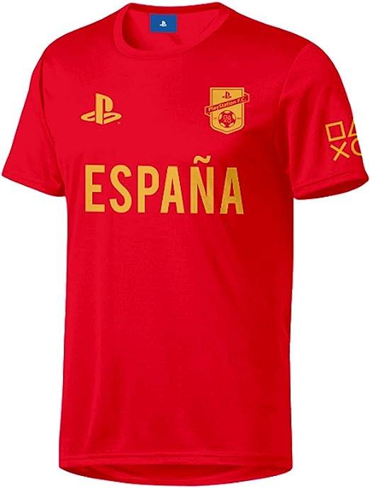 Sony Playstation FC - Spain - Hombre Oficial Camiseta de Fútbol ...