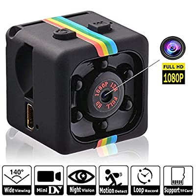 Hidden Spy Camera 1080P Mini Security Wireless cam with Night Vision, Video Recorder for Nanny/Housekeeper, Sports Action Cam with Motion Detection for Home, Car, Drone, Office and Outdoor Use