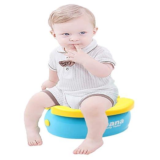 Asiento de inodoro para ni/ños redondos y ovalados Tapa WC con reposabrazos Reductor de WC para Beb/é