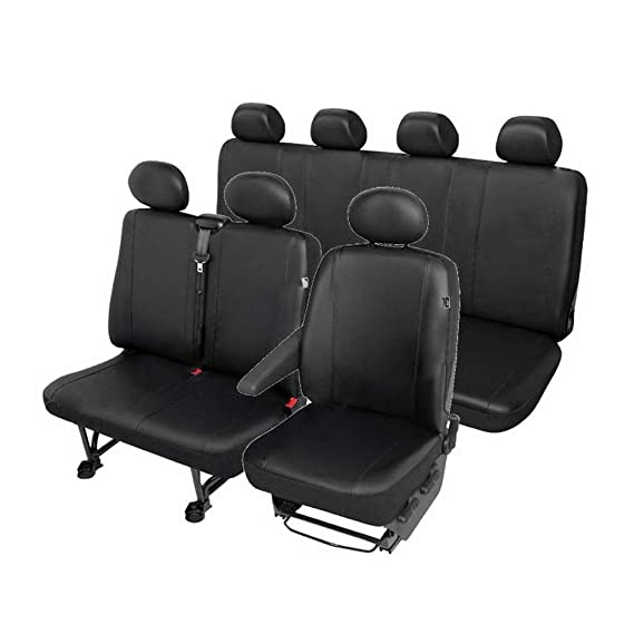 Sitzbezüge Schonbezüge SET QA Ford Transit Kunstleder schwarz
