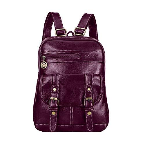 Leather Backpack for Women SNUG STAR Vintage School Bag S...