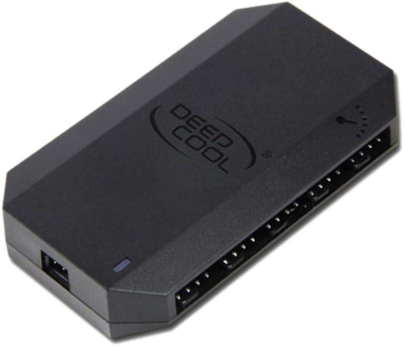 heaven2017 4-Pin PWM CPU Fan Hub Controller Computer Case 10 Ports SATA Powered