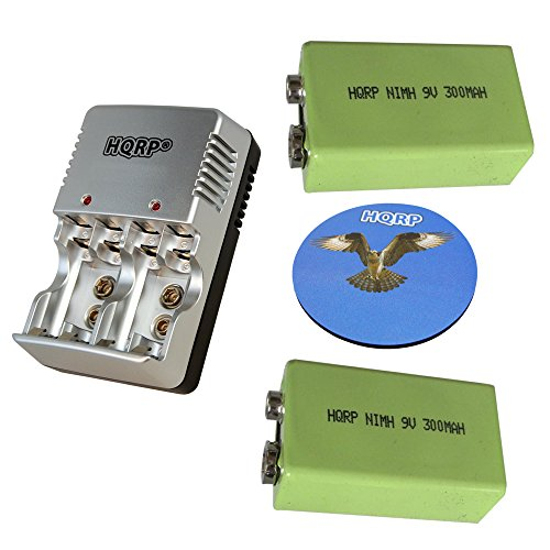 echargeable Batteries plus Universal General Use Battery Charger for ADAMS Metal Detector AD2600S / AD2300 / ER3000 / AMR-11 / AX777 / HF-1 + HQRP Coaster ()