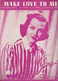 img - for Sheet Music Make Love To Me Jo Stafford cover book / textbook / text book