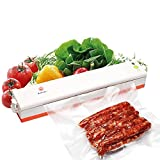 Vacuum Sealer, Udyr Automatic Vacuum Sealing System, Seal Machine for Food Preservation and Storage, Food Vacuum Saver with 20Pcs Bags