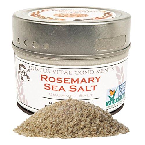 Salt Sea Rosemary - Gustus Vitae Rosemary Sea Salt, 3.6 Ounce