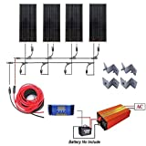 400 Watts Off Grid Solar Power System: 4pcs 100w...