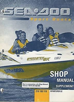 2000 sea doo sportster le shop service manual supplement 219 100 rh amazon com 1999 Sportster Harley-Davidson Sportster 1200