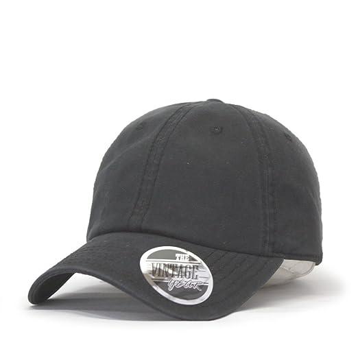 46d27928b69 Vintage Year Washed Canvas Cotton Low Profile Dad Hat Baseball Cap (Black)