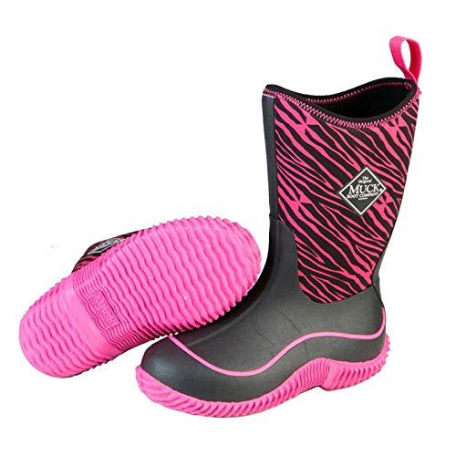 Muck Boots Hale Multi-Season Kids' Rubber Boot,Pink Zebra,6 M US Big ()
