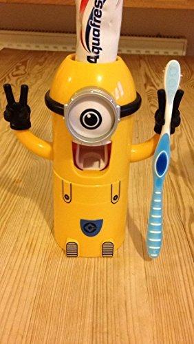 Soporte para cepillo de dientes y pasta dentífrica, diseño de Gru: mi villano favorito: Amazon.es: Juguetes y juegos
