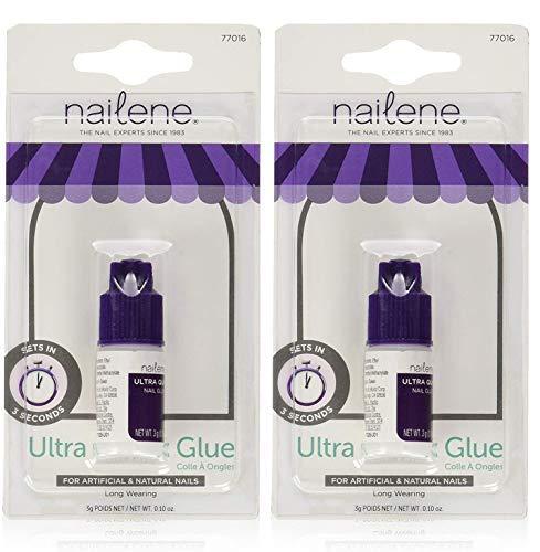 Nailene Ultra Quick Nail Glue 0.10 oz (Pack of 2)