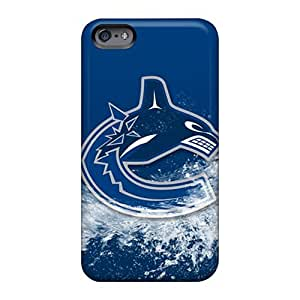 Shock Absorption Hard Phone Cases For Apple Iphone 6 With Unique Design Lifelike Vancouver Canucks Image EricHowe