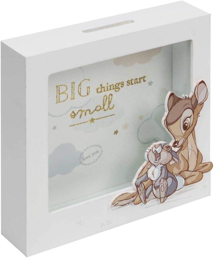 Disney Baby Magical Beginnings Bambi and Thumper Wooden Money Box