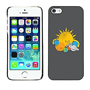 Planetar® ( Sun Star System Planets Kids Drawing ) iPhone 5 / 5S Fundas Cover Cubre Hard Case Cover