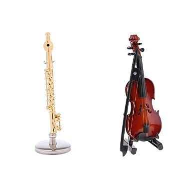 Modelo De Niños Flauta Juguetes Violín Flameer Para Mini gf76Ybvy