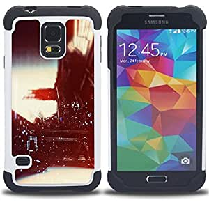 For Samsung Galaxy S5 I9600 G9009 G9008V - vignette photograph nightlife lights Dual Layer caso de Shell HUELGA Impacto pata de cabra con im??genes gr??ficas Steam - Funny Shop -
