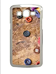 linJUN FENGCool Buttons PC Case Cover for Samsung Grand 2 and Samsung Grand 7106 Transparent