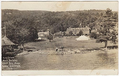 Real Photo Postcard Auditorium Main Building Silver Bay Assn Lake George  Ny