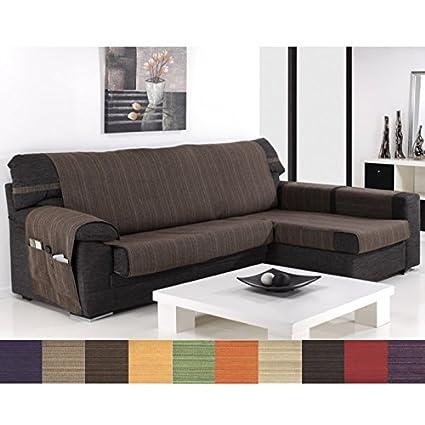 Funda Cubre Chaise Longue Modelo Darsena, Color Negro, Medida Brazo Izquierdo – 240cm (Mirándolo de Frente)
