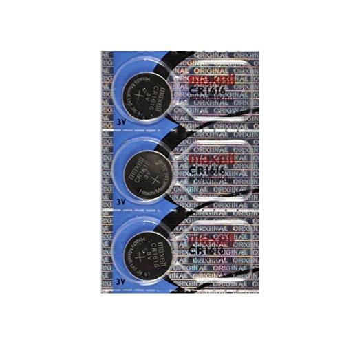 Maxell CR1616 3 Volt Lithium Coin Battery (3 Batteries)