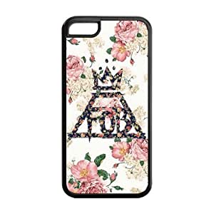 Personalized Snap-on TPU Rubber Coated Case Cover for iPhone 5C [FOB Fall Out Boy]