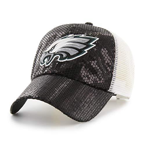 NFL Philadelphia Eagles Women's Brilliance OTS Challenger Adjustable Hat, Black, Women's