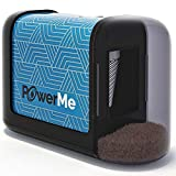 PowerMe Electric Pencil Sharpener - Battery Operated, (No Cord) for Home, Office, School, Artist, Students and more! –...