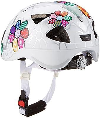 ALPINA Ximo Flash Casco de Bicicleta, Girls, White Flower, 45-49 ...