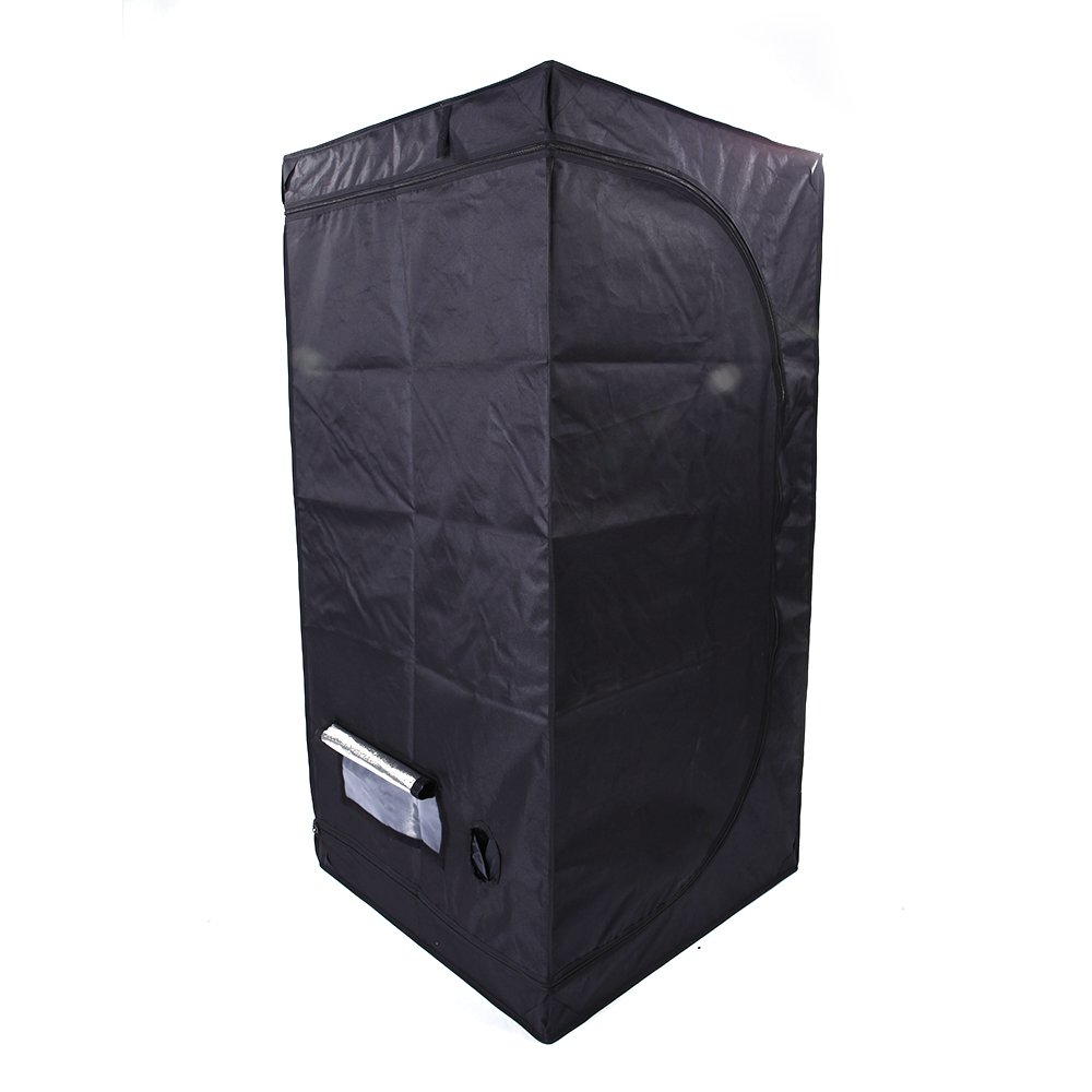 Olymstore 32 x 32 x 64-inch Reflective Mylar Hydroponics Plant Growing Tent, GreenHouse, Home Use Dismountable Water-Resistant Black for Indoor Seedling/Plant Growing & Germination by Olymstore (Image #3)