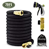 Mozing 75ft Expandable Garden Hose - Heavy Duty Flexible Expanding Hose with 3/4