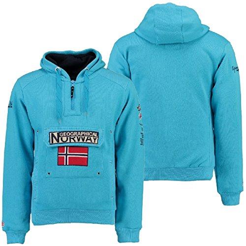 007 Felpa A Culo Gymclass Geografica Norvegia Blu Uomo Sp201h turchese ggHrYq