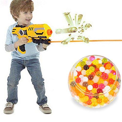MAZIMARK-10000pcs Colorful Water Bullet Balls Gun Pistol Toy Crystal Soil Water Beads Mud