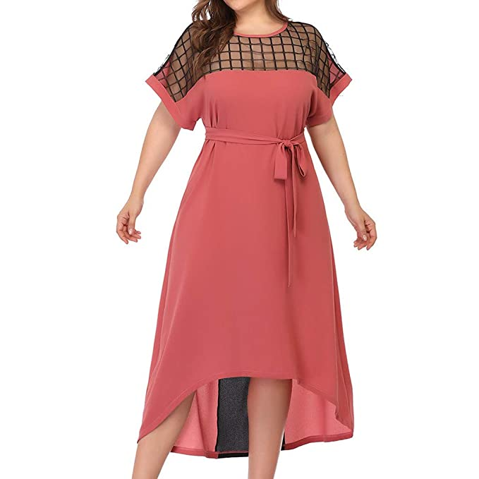 Plus Size Dresses Limsea Women Chiffon Plus Size O Neck