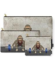 Society6 Sock Monkey Bodybuilder Carry-All Pouch