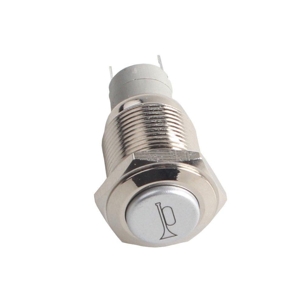 HOUTBY/™ 12V 20A KFZ Blau LED Licht Beleuchtet Wippenschalter Kippschalter Armaturenbrett Schalter Momentschalter Horn Light