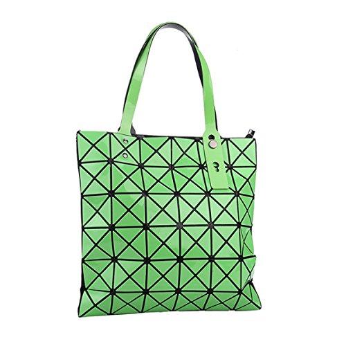 Bolsa Moda Ocasional De Cubo Geométrica Del Hombro Bolso Paquete Forma Verde Plegable Variedad qRO6w0xU
