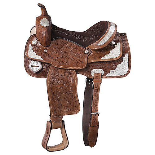 King Series McCoy w/Silver Trail Saddle 14in Black