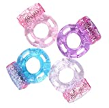 Vibrating Cock Ring With Replaceable Battery- Assorted Colors