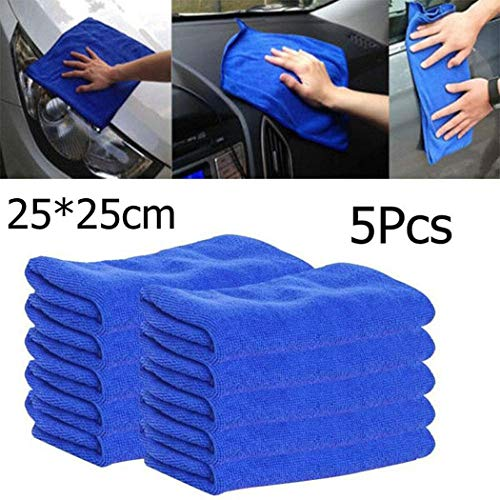 MinGe Microfiber Cleaning Cloth-Square Water Absorption Not Falling Hair Car Cleaning Towel 10PCS