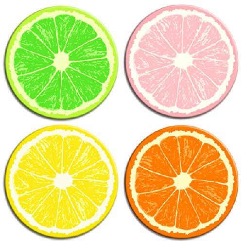 Retro Planet Fruit Slice Magnets product image
