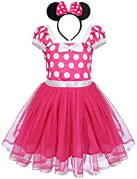 Girls' Polka Dots Princess Party Cosplay Pageant Fancy Costume Tutu Dress up Mouse Ears Headband